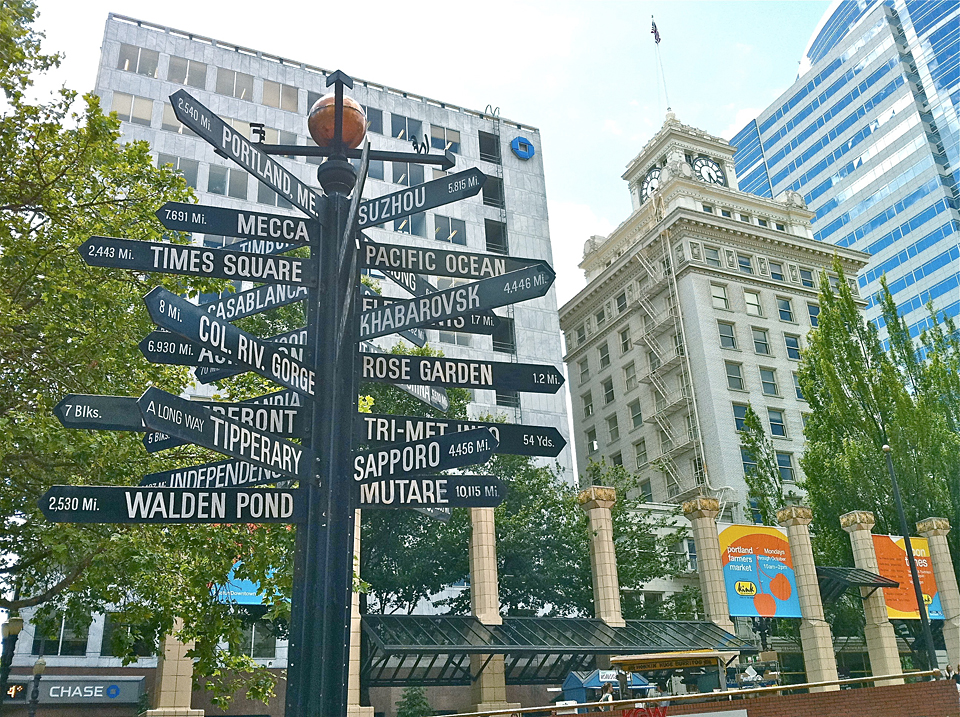 Pioneer Courthouse Square art installation